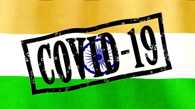 coronavirus outbreak in India . 2019-ncov influence on state economy. covid-19 epidemic, global crisis. concept of humanity struggling with new deadly virus - vídeo