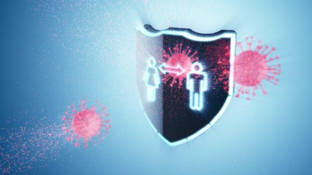 Coronavirus Schutz Soziale Entfernung – Video