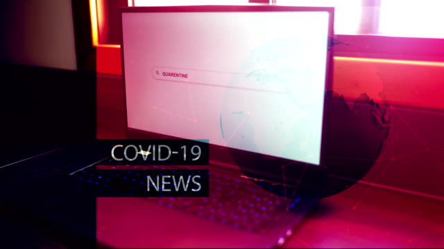 Coronavirus, Sars-Cov-2, Covid-19, 2019 nCoV Breaking News Background