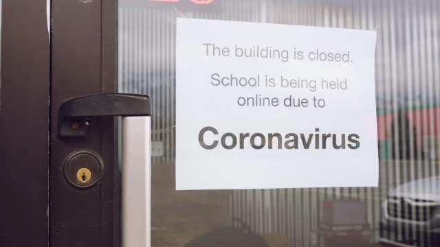 covid-19 coronavirus school closed - social distancing stock videos & royalty-free footage