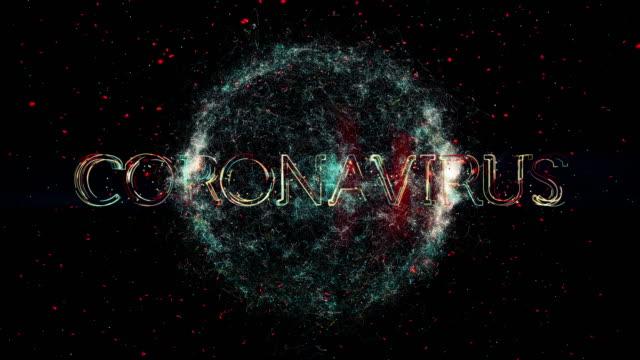 vidéos et rushes de animation de titre de coronavirus - coronavirus