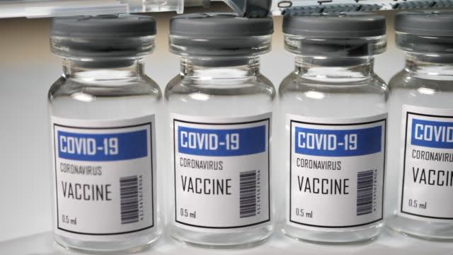 covid-19 coronavirus vaccin, inga människor - glas material bildbanksvideor och videomaterial från bakom kulisserna