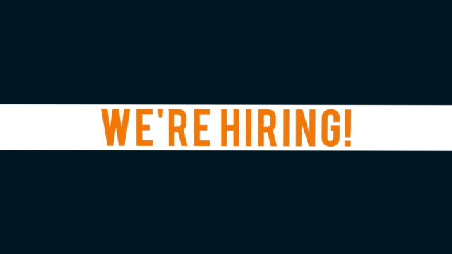 Corporate Apply Now We're Hiring animated text.