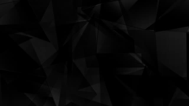 Corporate black geometric polygonal video animation video