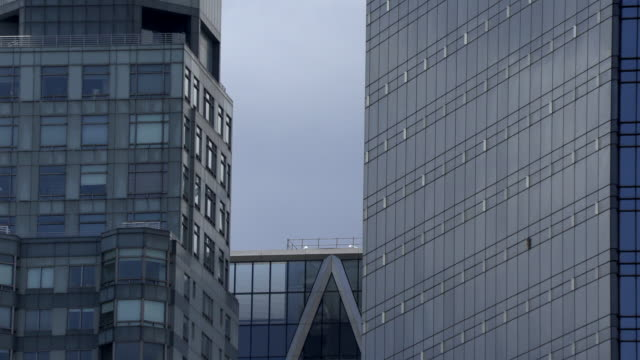Corporate Building window finance facade time passing timelapse