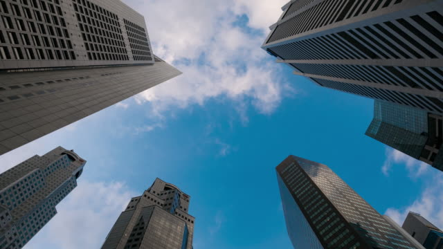 Corporate buildings and cloudy sky video