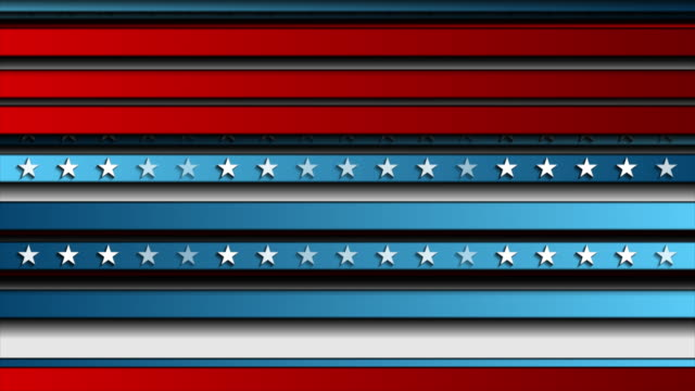 Corporate concept USA flag abstract video animation USA colors, stars and stripes abstract bright poster design. Independence Day modern motio background. Seamless looping. Video animation Ultra HD 4K 3840x2160 independence day videos stock videos & royalty-free footage