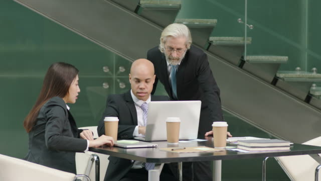 corporate executives meeting in office video
