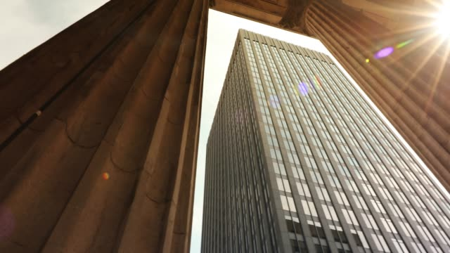 Video Corporate finance buildings in the city