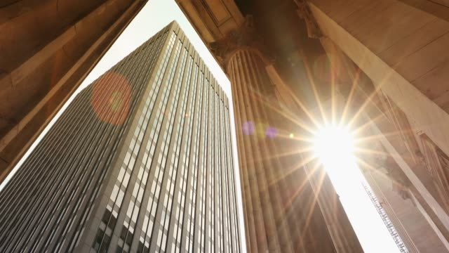 corporate finance buildings in the city - american architecture stock videos & royalty-free footage