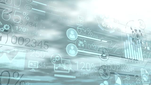stockvideo's en b-roll-footage met corporate infographic en financiële gegevens op een duidelijke achtergrond - lood