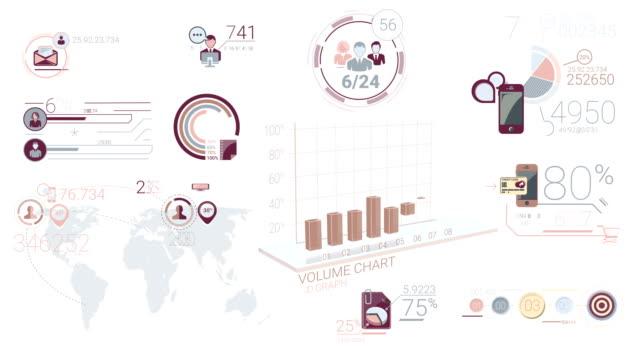 stockvideo's en b-roll-footage met corporate infographic elementen - bedrijfsstrategie