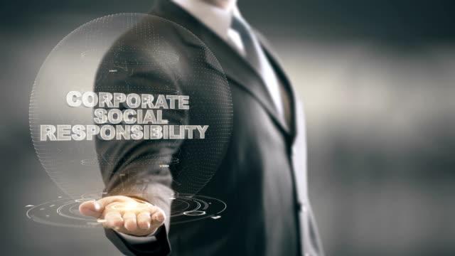 vídeos y material grabado en eventos de stock de corporativo social responsabilidad empresario sosteniendo en mano nuevas tecnologías - social media