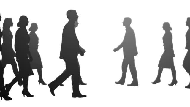 vídeos y material grabado en eventos de stock de equipo de negocios - silhouette people