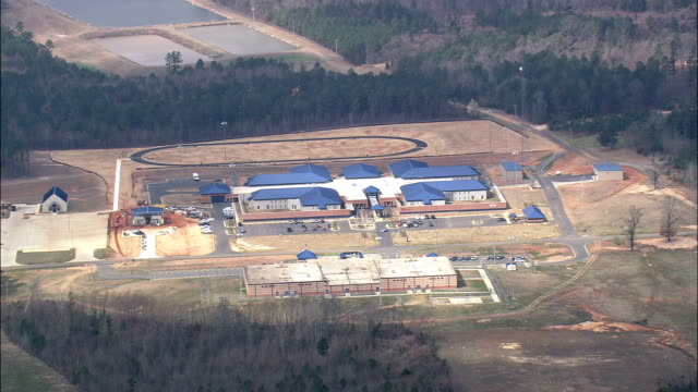 correctional facility near Monroe - Aerial View - Mississippi,  Warren County,  United States video