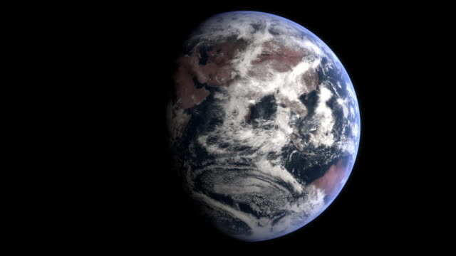 Correctly spinning Earth (HD, 16 s, loop) video