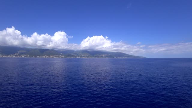 Corsica, as seen from the sea.