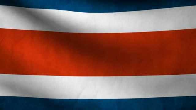 Costa Rica flag. video