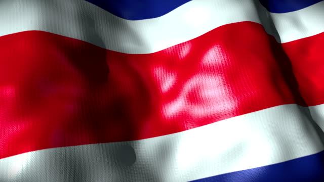 Costarica Flag waving, looping