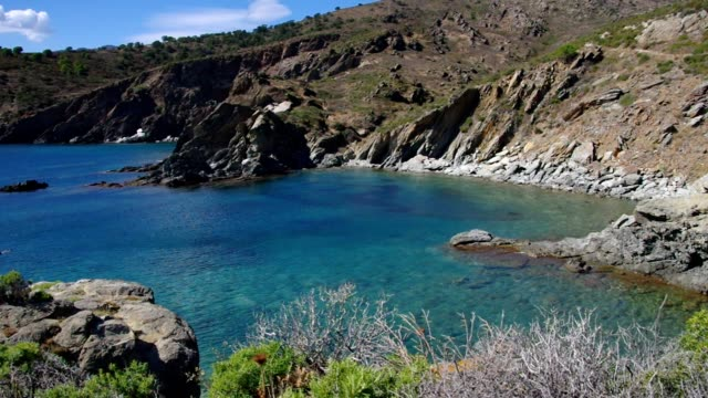 Cote Vermeille, near the Cap Bear in Languedoc-Roussillon in France video