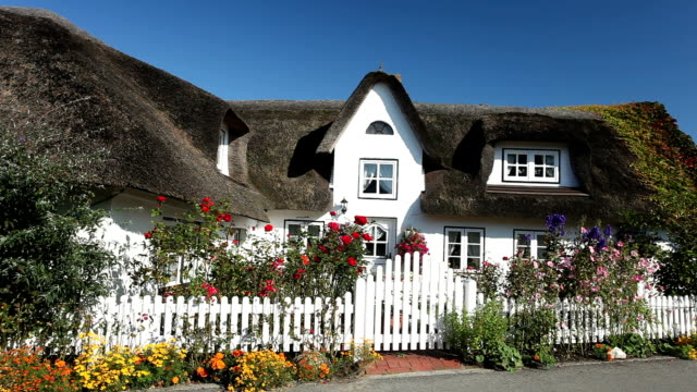 Cottage with thatched straw roof video