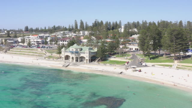 cottesloe beach is a popular location for tourists to visit in perth, western australia, australia. - western australia stock videos & royalty-free footage