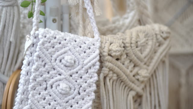 Cotton Rope Fringed Handmade Bags