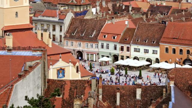 Council square in Brasov video