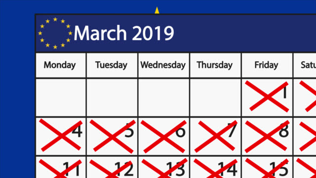 count down to brexit on an english calendar - marzo video stock e b–roll