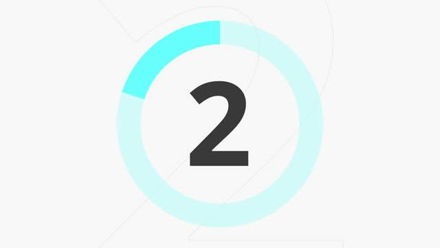カウントダウン 10 秒ブルー - 習字点の映像素材/bロール