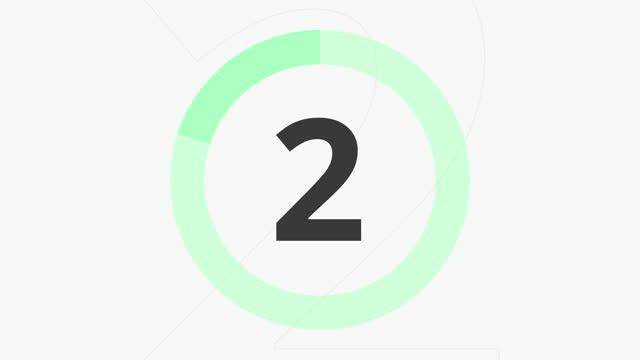 カウントダウン 10 秒グリーン - 習字点の映像素材/bロール