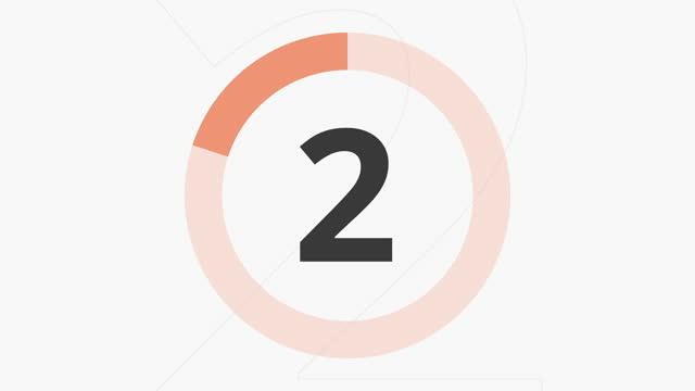 カウントダウン 10 秒 オレンジ - 習字点の映像素材/bロール