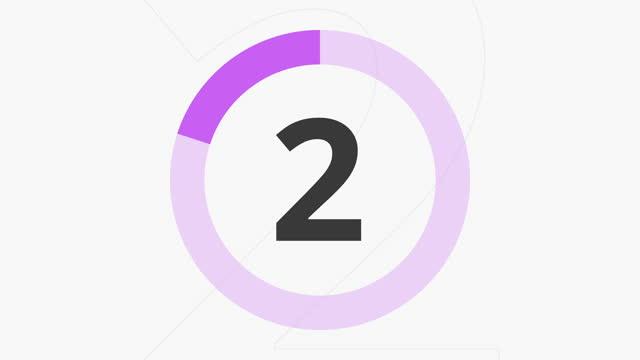 カウントダウン 10 秒パープル - 習字点の映像素材/bロール