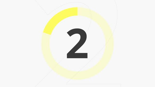 カウントダウン 10 秒イエロー - 習字点の映像素材/bロール