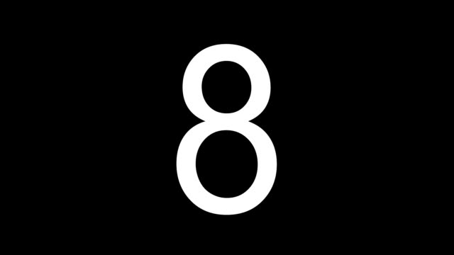 countdown 10 seconds - simple white numbers on black video
