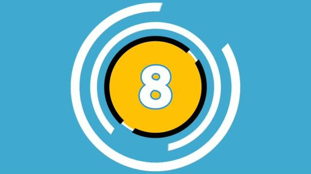 countdown-animation 10 bis 1 für timer oder nummerierung - flat design videos stock-videos und b-roll-filmmaterial