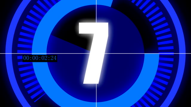 Countdown animation for digital rendering video