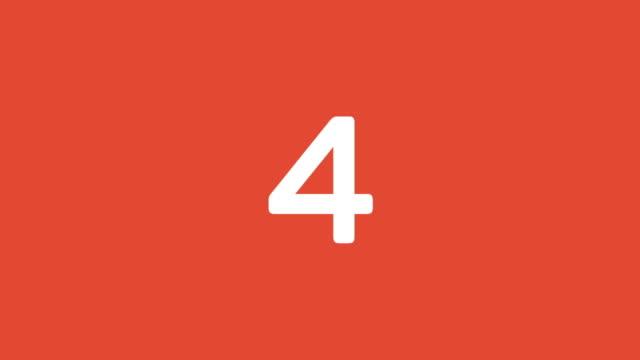 vídeos y material grabado en eventos de stock de animación de 54321 cuenta regresiva para la apertura de vídeo. - cuenta atrás