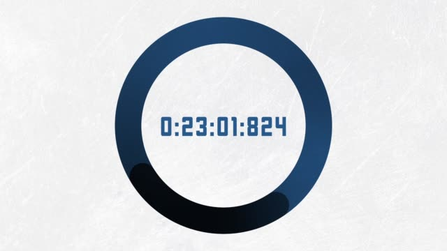 Countdown clock counting down with number and circle