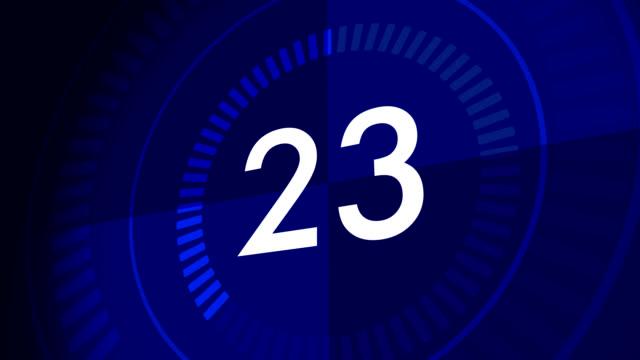 conto alla rovescia orologio dall'30-1 - conto alla rovescia video stock e b–roll