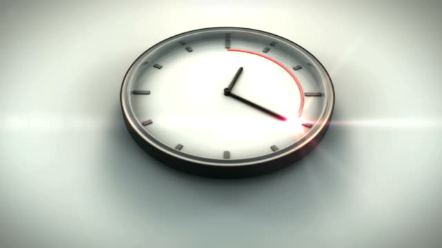 Countdown Clock Power Up HD 3D Animation of Clock. Clock Power Up HD. wall clock stock videos & royalty-free footage