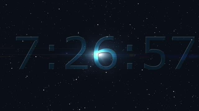 Countdown clock video