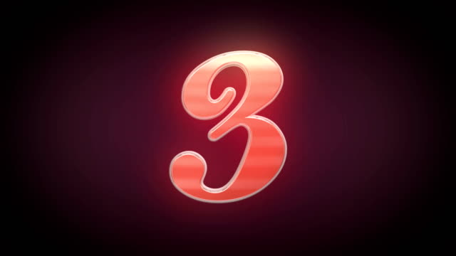 Countdown  Colorful 3D numbers countdown 3-1 video