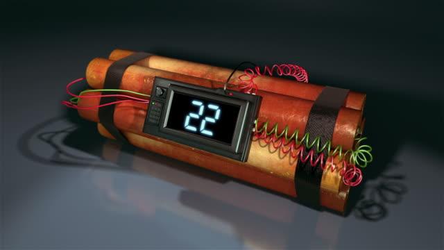 hd: bomba conto alla rovescia dynamite - 20 o più secondi video stock e b–roll