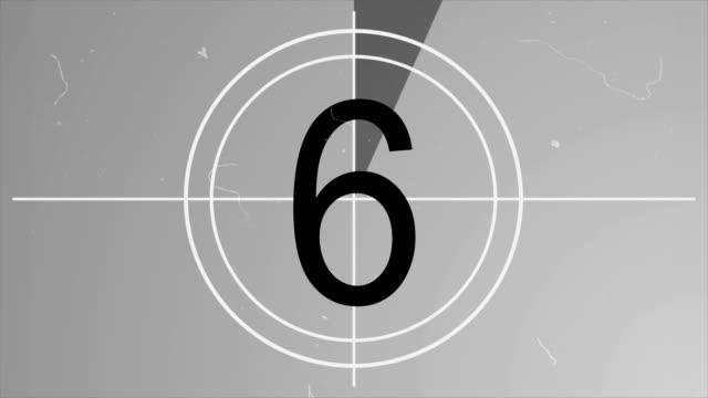 pacchetto disordini film countdown - 5 in 1 (parte 1) - conto alla rovescia video stock e b–roll
