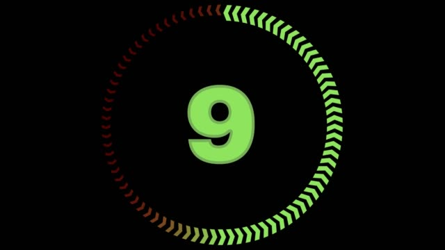 Countdown From 10 to 0 - With Alpha Numbers counting down from 10 to 0 with a circle design, designed in Adobe After Effects. timer stock videos & royalty-free footage