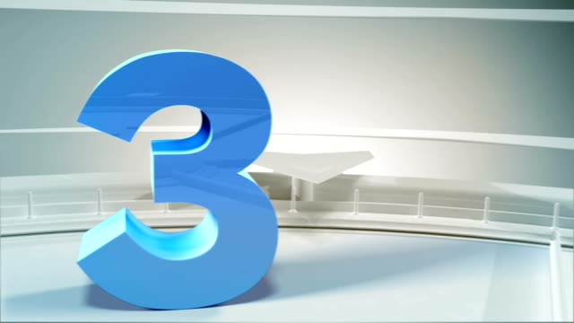 Countdown GO! Colorful 3D numbers countdown 1-10.