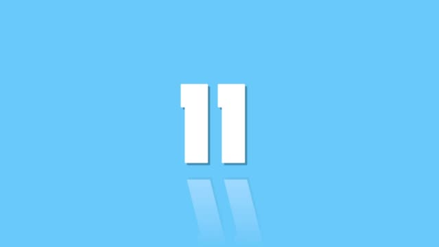 countdown leader 15 to one with reflection modern style blue
