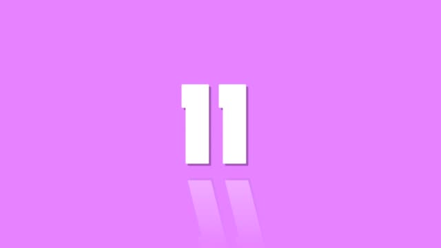 countdown leader 15 to one with reflection modern style pink