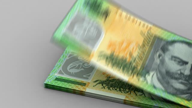 Counting Australian Dollar video